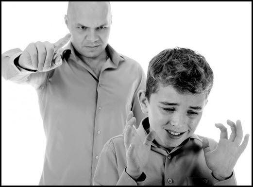 Родитель жёстко критикует ребёнка