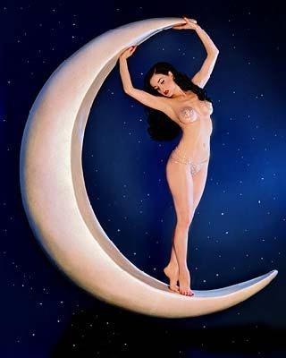 Dita on the moon.