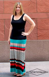 The Easiest DIY Maxi Skirt tutorial is so easy to make that even a beginner could tackle this project.