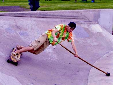 land paddle in skate park