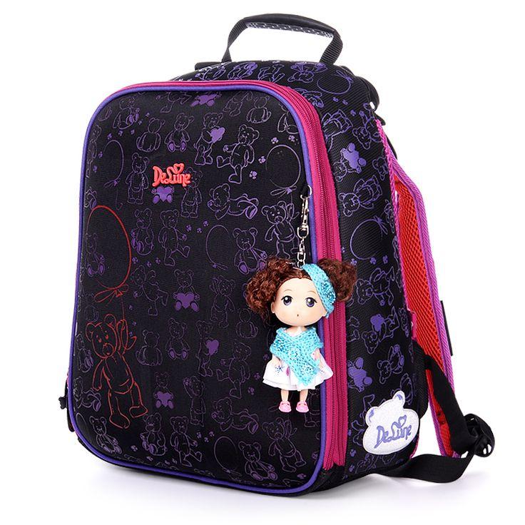 Высокое качество Прекрасные дети бесплатно Кукла красивая школьная сумка девушки студенты творческий путешествия рюкзак дети мультфильм мешок Канцелярских Товаров купить на AliExpress