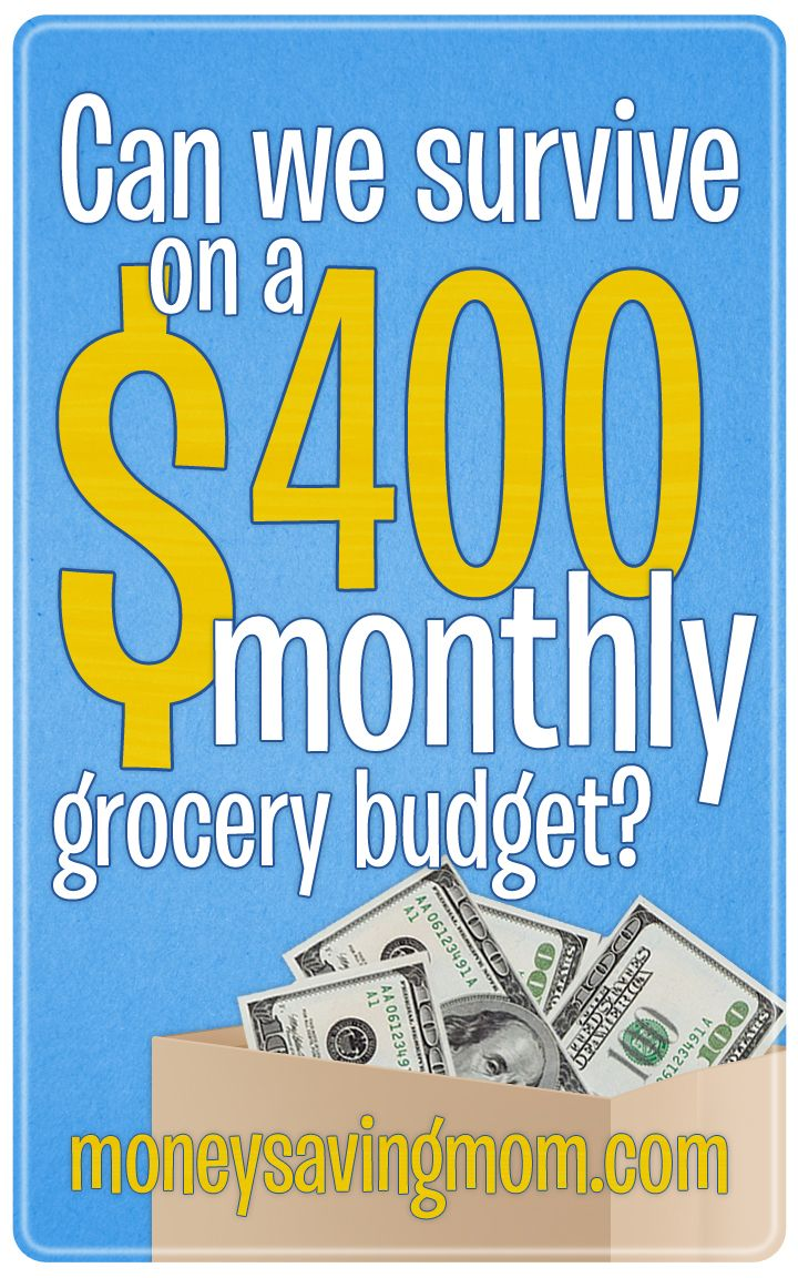 Is it possible to survive on a $400 monthly grocery budget? Here Crystal from MoneySavingMom.com gives a lot or practical advice and suggestions for eating well on a tight budget. Great read!
