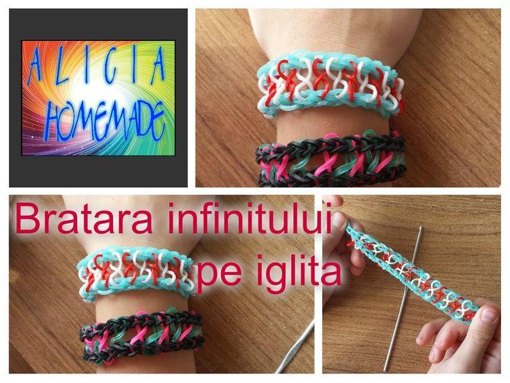 Cum se face  BRATARA INFINITULUI / INFINITY din elastice loomTUTORIAL (R...