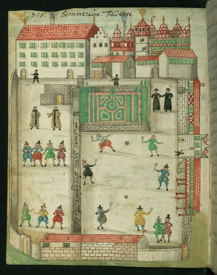 In the spring of 2012, the Walters Art Museum in Baltimore purchased a charming illuminated liber amicorum, or friendship book, that had never before been known to scholars and on which research has just begun. A game of tennis in 1616, from Germany.
