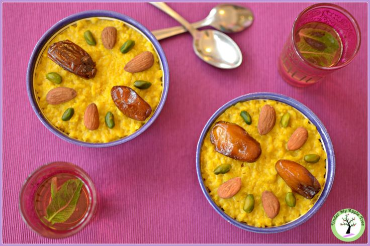 Oriental saffron and orange blossom rice pudding recipe
