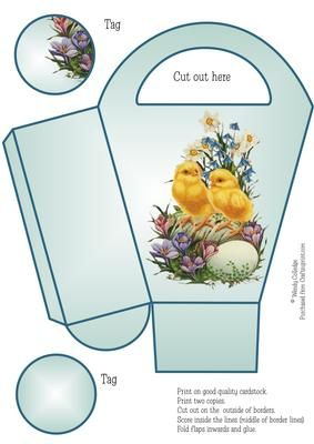 69 best gift box 2 images on pinterest easter box templates and vintage easter chicks gift bag box negle Choice Image