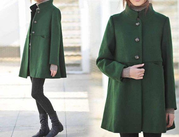 Best 25  Green wool coat ideas on Pinterest | Women's coats, Green ...