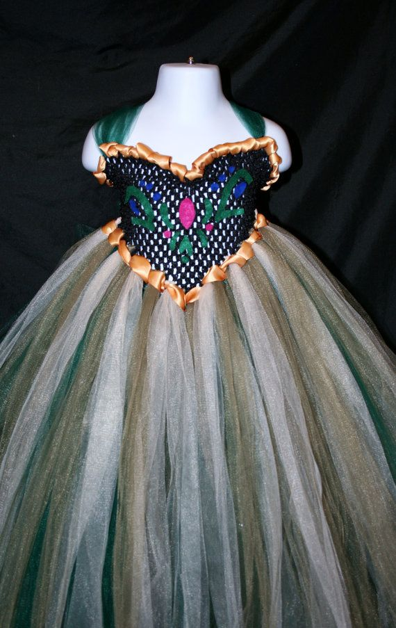 Anna's coronation day dress ... Ok, so this is an etsy posting, but since the bodice is that crochet stuff for headbands, I think it'd be so easy to make. And it'd be no sew!