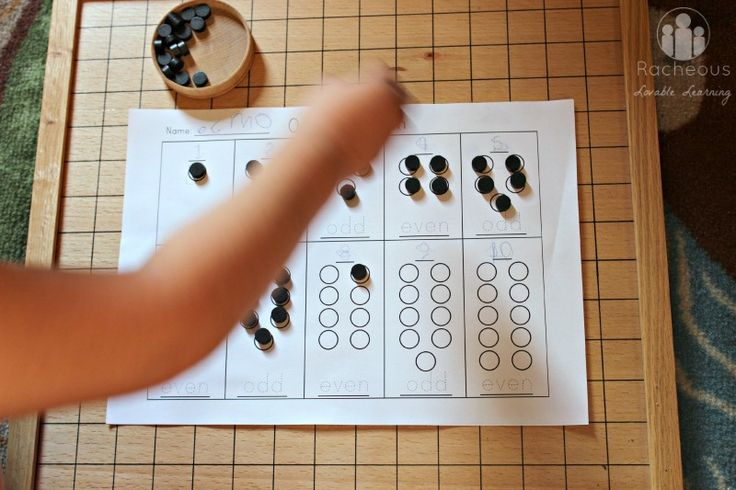 Introduction to odd and even numbers - the Montessori (hands on) way