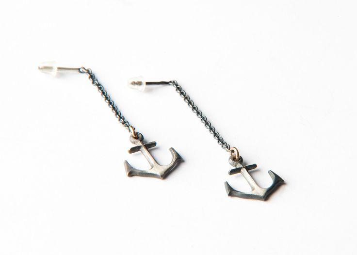 Anchor earrings by Orri Finn design.