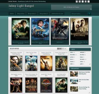 Johny Light Banget Blogger Template | Mas Template