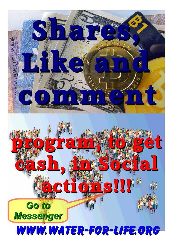 Program, to get cash, in Social actions!!! Messenger