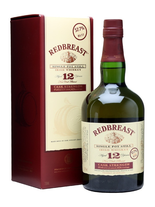 I adore this...Redbreast 12 Year Old Cask Strength: Whiskey Advocate's Irish Whiskey of the Year 2012
