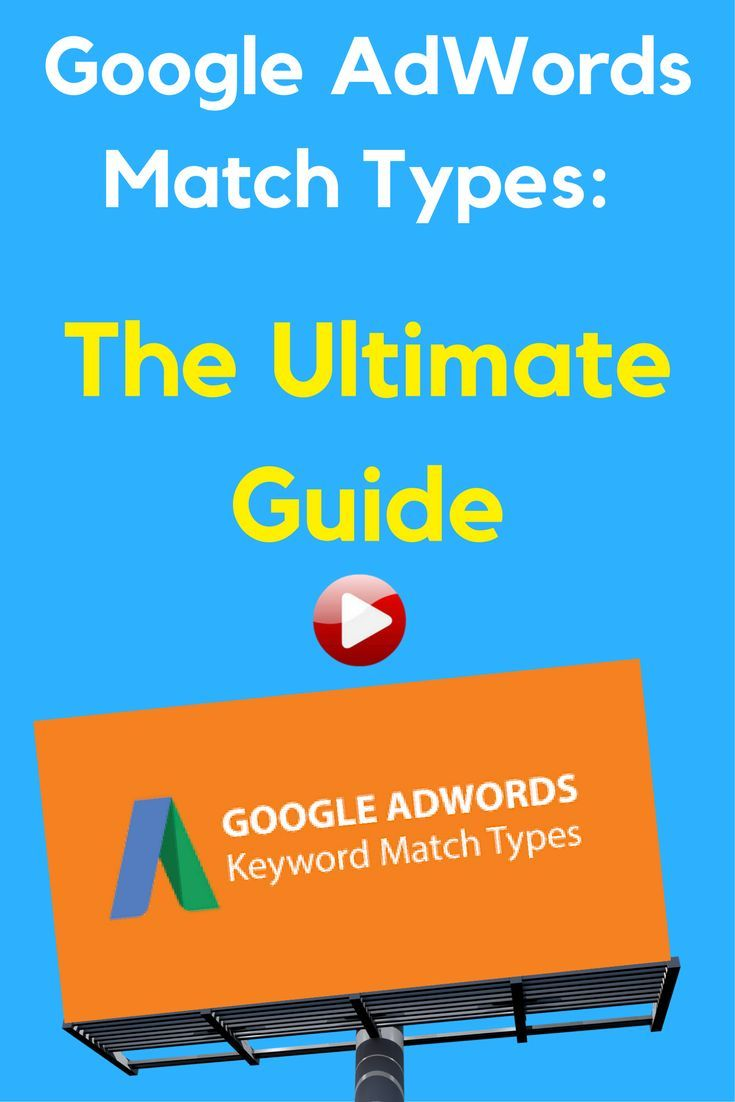 Understanding Google Adwords Match Types Keyword Match Types Help