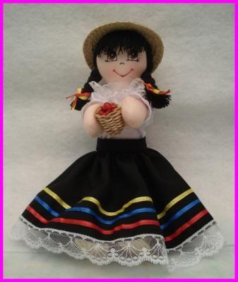 1176 muñeca campesina muñecas en tela vestido en dacron,cuerpo en piel de angel,relleno en algodón costura manual,pintura en tela