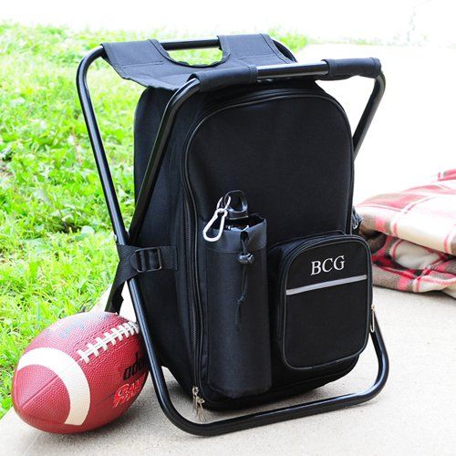 Personalized Tailgate Backpack Cooler Chair by Beau-coup
