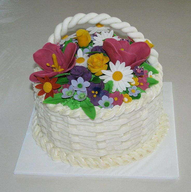 Flower Basket Mothers Day Cake : Best gardening cakes cupcakes images on