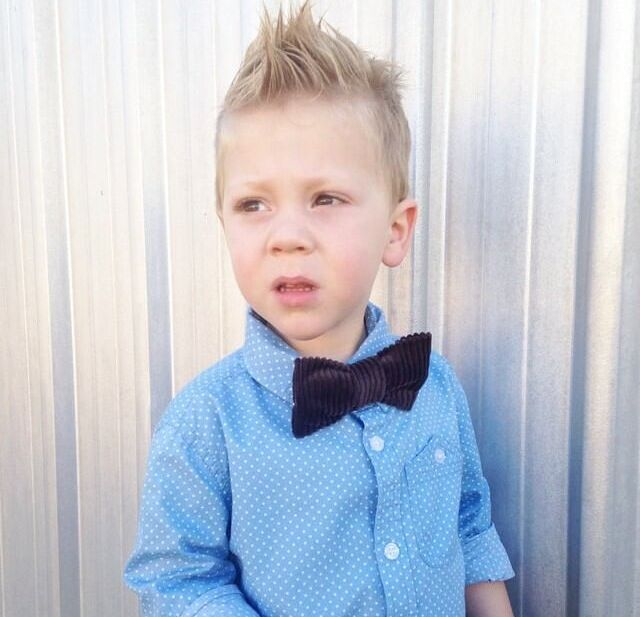 This adorable guy wearing his Sticks + Stones stone bow tie.