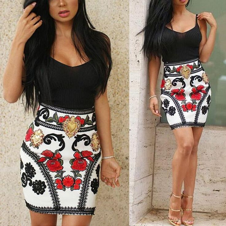 Women's Fashion Sexy Halter Bodycon Dress Slim Fit Floral Print Hip Package Clubwear Casaul Dress
