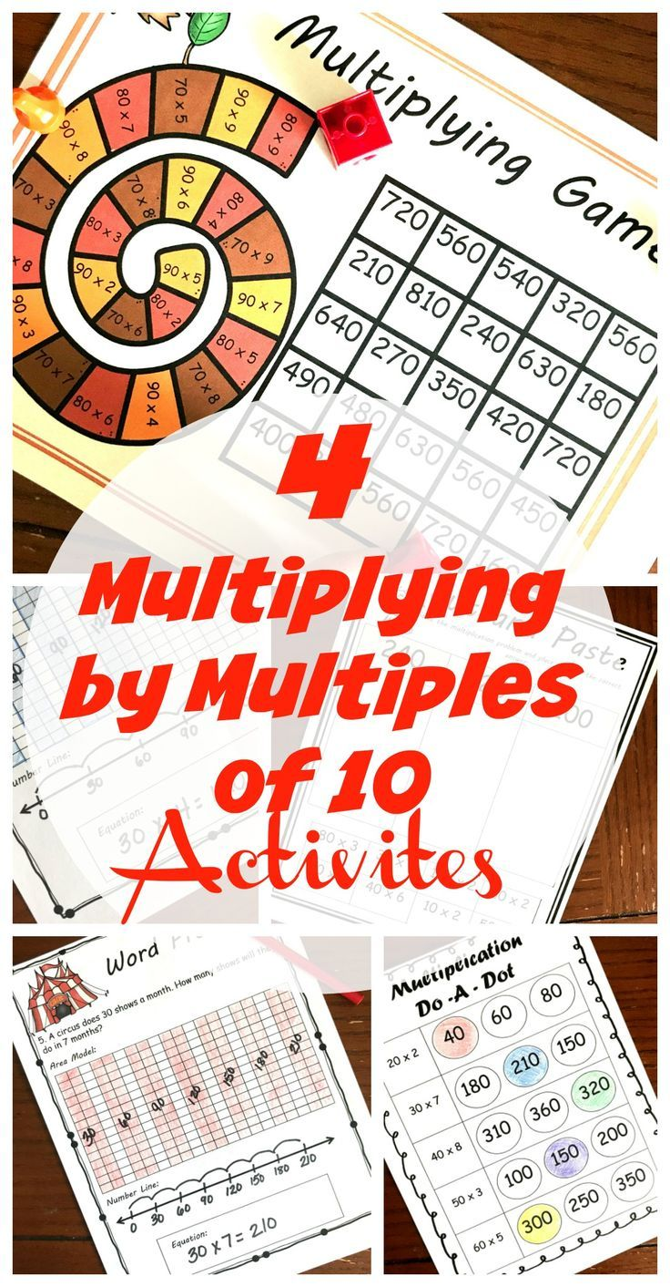 These Four Activities Will Help Children Practice Multiplying One Digit Whole Numbers By Multiples Of 10 In The Range 20 90 Do A Dot Fun Education Activities