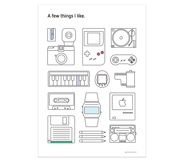 A few things I like by Gabriele Colombo, via Behance