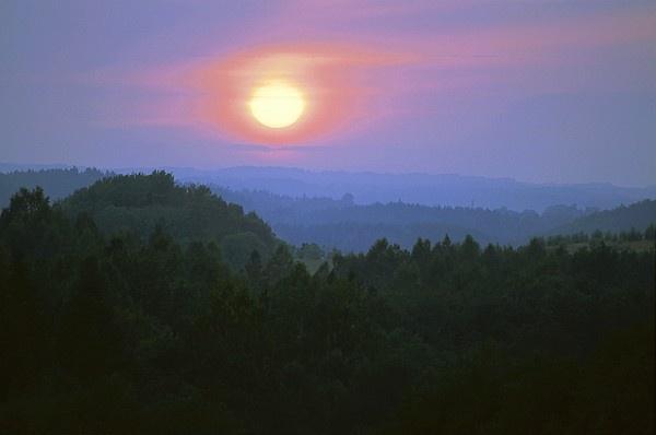 Sunset at Hinnomäe. Otepää Upland