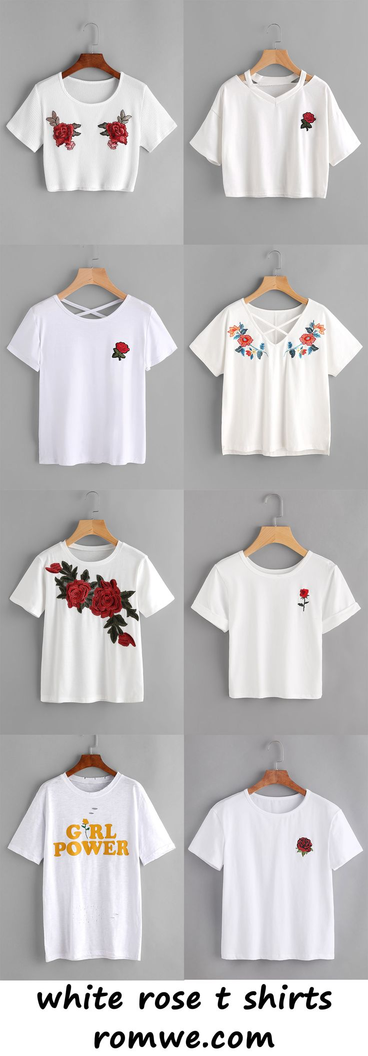 T shirt printing at white rose - White Rose T Shirts Romwe Com