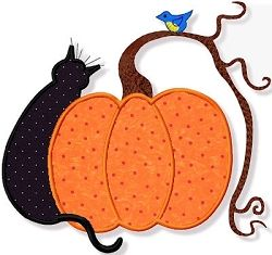 Country Halloween Applique - 3 Sizes! | Halloween | Machine Embroidery Designs | SWAKembroidery.com Abigail Michelle