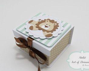 Caixa Lembrancinha Maternidade Leão