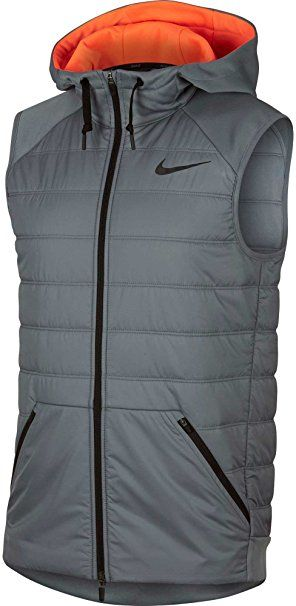 wholesale dealer 5eafe a98c3 Nike Mens Winterized Therma Training Vest (COOL GREY HYPER CRIMSON, L)