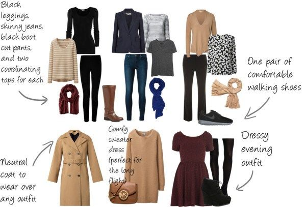Packing List for Europe in Winter--Carry-on only