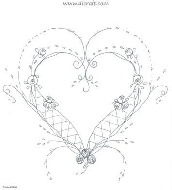 Heart Pattern. This would be pretty on a baby's quilt