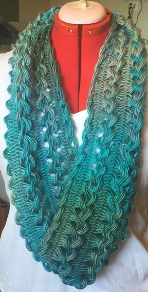 Handmade Hairpin Lace Infinity Scarf                                                                                                                                                                                 More