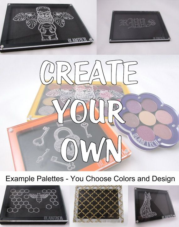 24 Eyeshadow Pan Create-Your-Own Magnetic Makeup Palette - Custom Makeup Storage - Design Your Own Travel Eye Shadow Palettes - by GlamTech