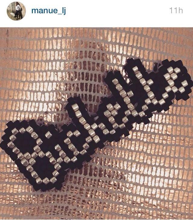 Les mots en perles (vus sur Instagram)