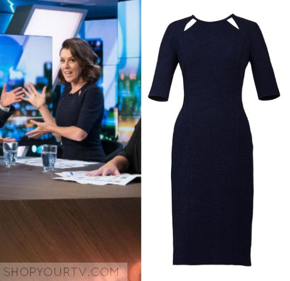The Project: March 2017 Gorgi's Cut out Dress | Gorgi Coghlan wears this blue cut out navy midi dress in this episode of The Project on the 31st of March 2017.  It is the Ginger & Smart Undertone Dress.