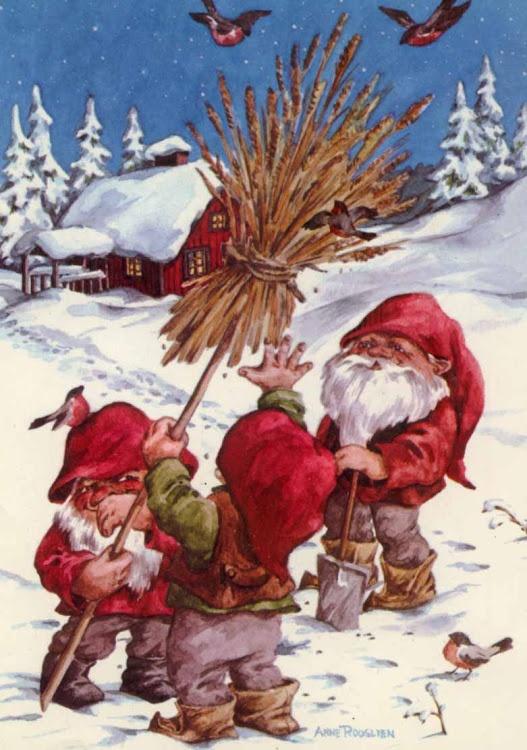 Anne Rooslienwheat Sheaf For The Birds God Jul