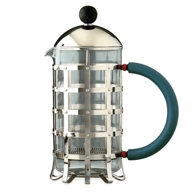 We're having a Michael Graves moment which meets our love of all things coffee #iconic @alessi_official X @mgravesdesign #legend #architecture #coffee #french #press #goodmorning #grid #design #instagood #instadaily #instalike #instagram #instaglam #good #design #details #memphis #industrial #product #nyc #modern #classic #monday #chic #livewell