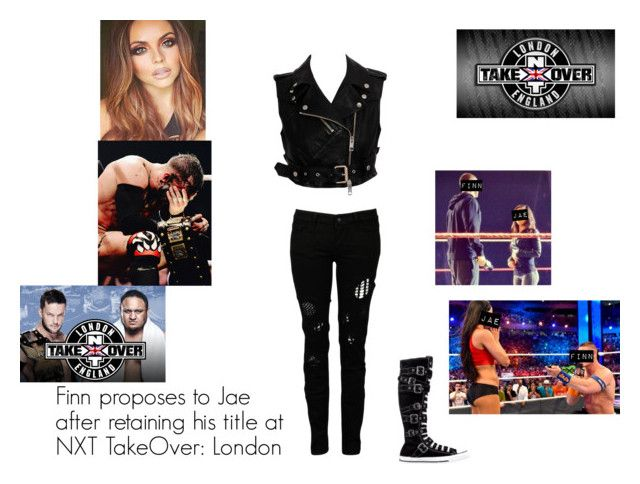 """""""Finn Balor proposes to Jae Bella at NXT Takeover: London"""" by gothicninibalor ❤ liked on Polyvore featuring art"""