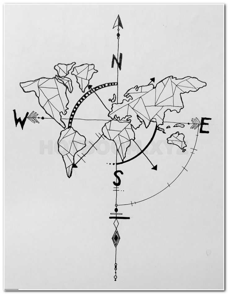 75 best Ink images on Pinterest Tattoo ideas, Tatoos and Cute - best of world map grey image
