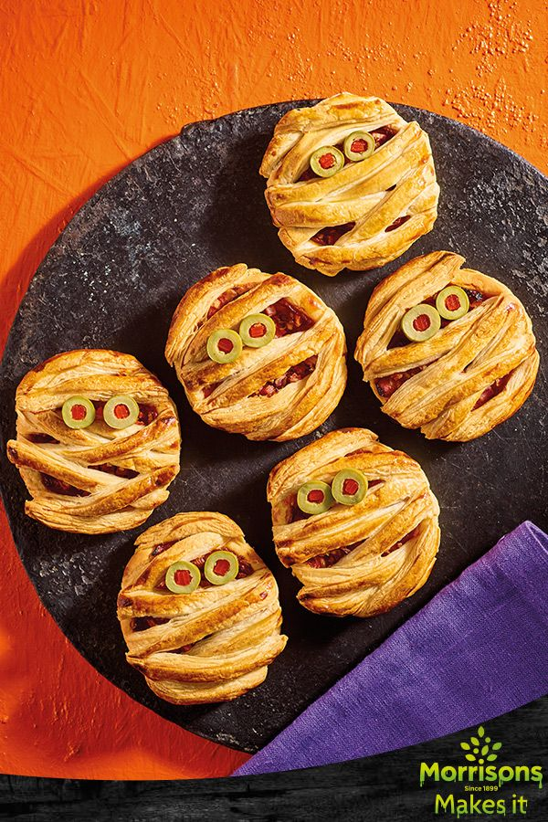 Wrap-up' warm and enjoy these spook-tastic party snacks.