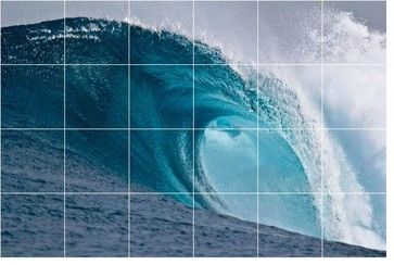 "Wave Photo Kitchen Bathroom Tile Mural 2154, 48""x32"" - Contemporary - Tile Murals - by Picture-Tiles"