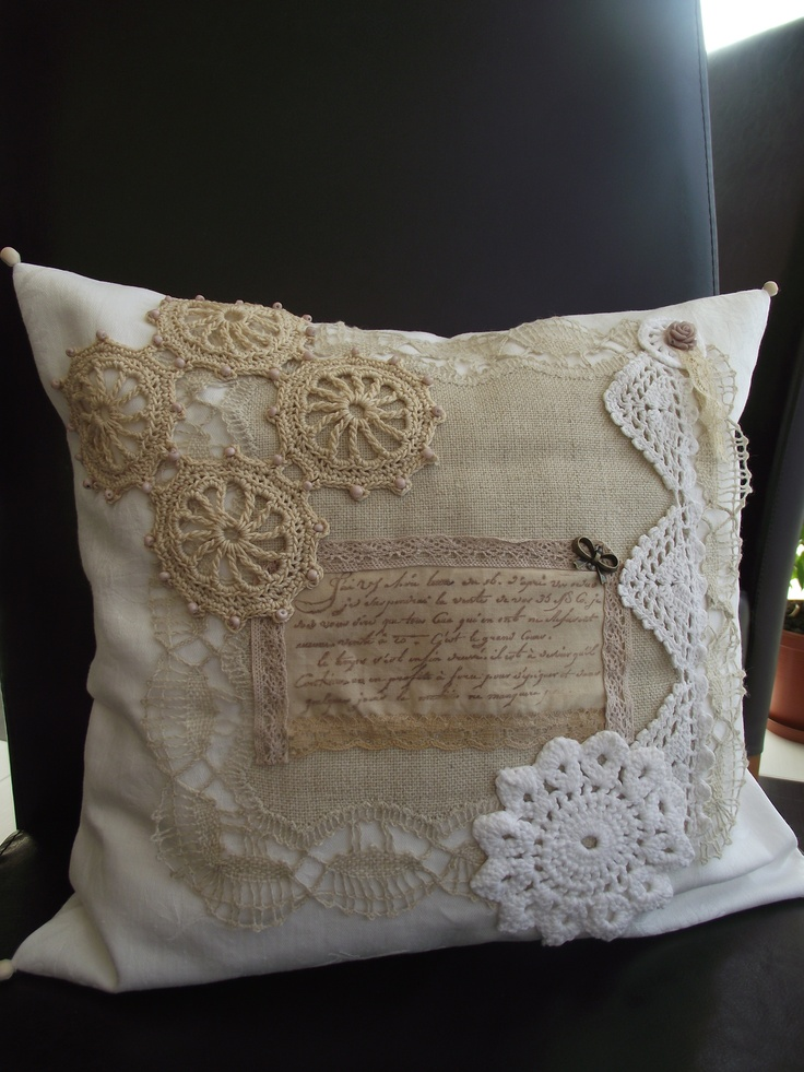 """Message from the past"" pillow"