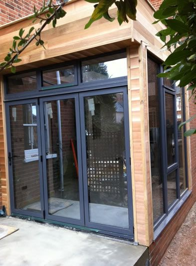 Porches london osborn glass porch installation house for Contemporary front porch designs uk