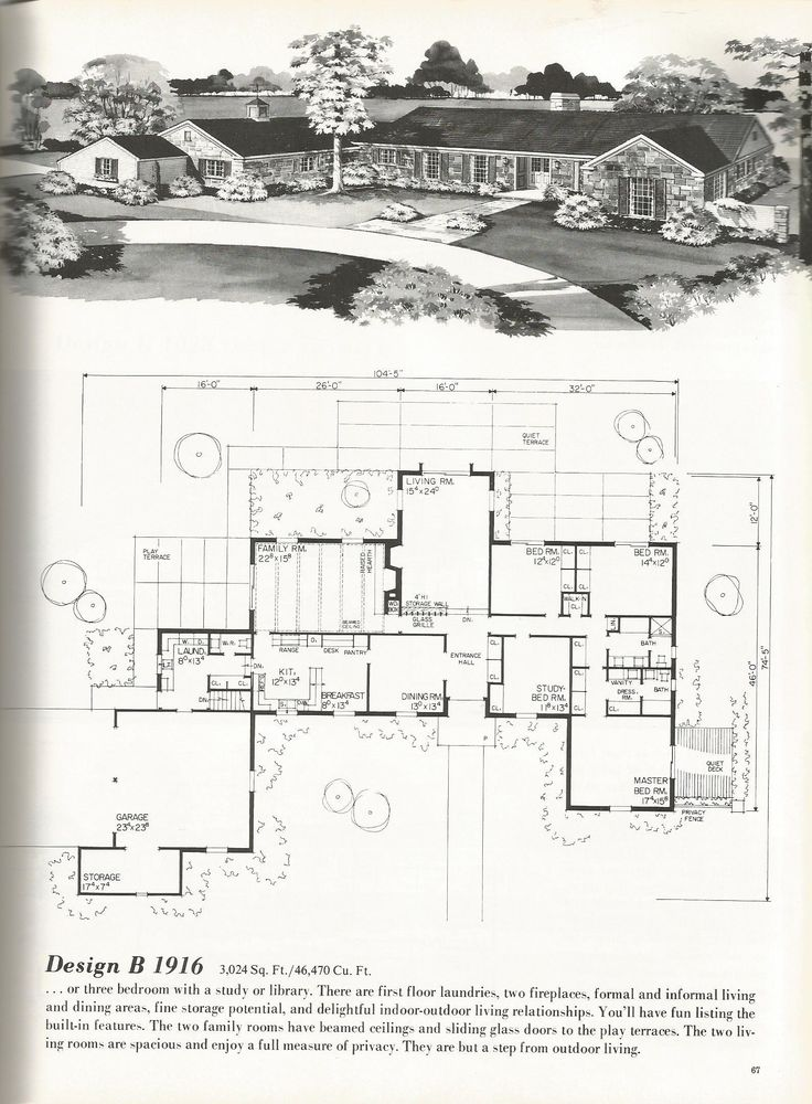 138 best Midcentury House Plans images on Pinterest | Vintage ...