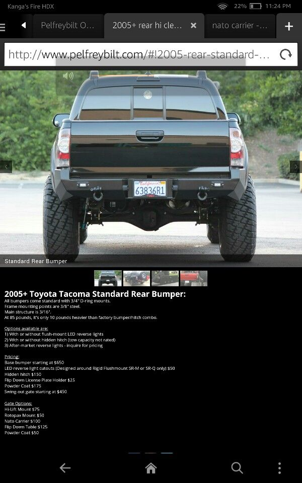 316 best tacoma images on pinterest toyota trucks garages and autos pelfreybilt toyota tacoma standard we are bumper solutioingenieria Gallery