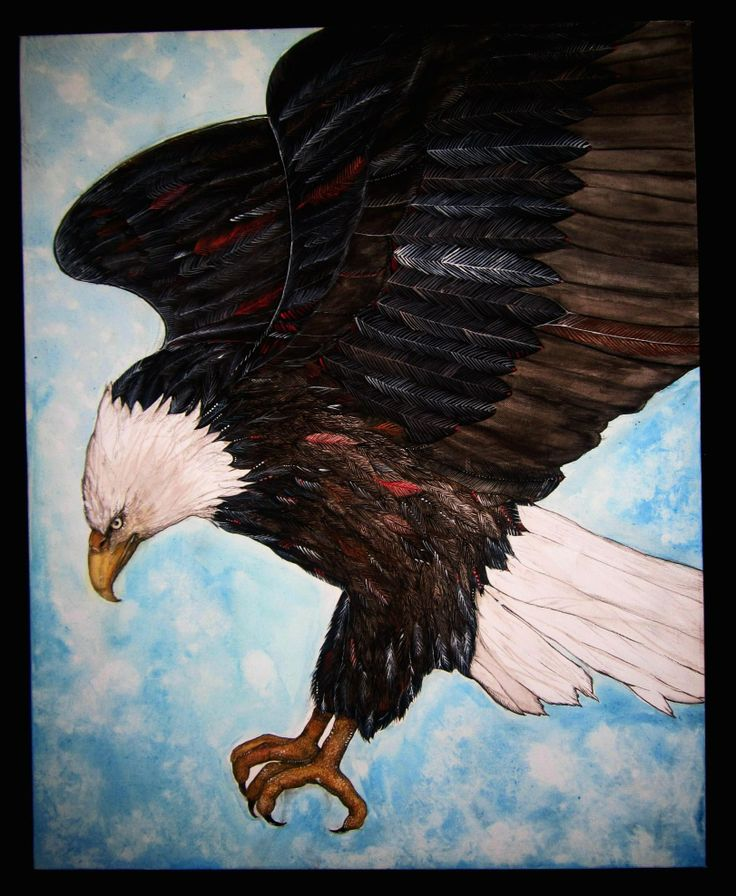 Eagle Painting by Shanni Smith