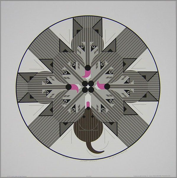 Charley Harper - Pack Pact - Wolves 1993