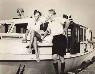 Maury and Annabelle East on the Killarney Queen in 1962