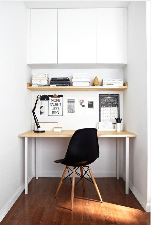 ♥ Compact. small desk // small workspace // office nook